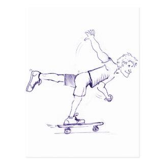 1人の足の荒いスケートボーダー ポストカード