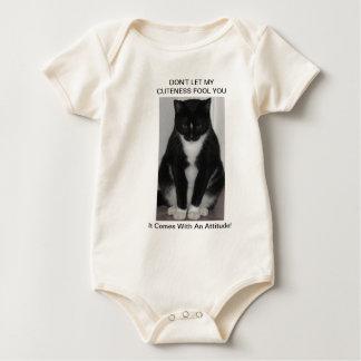 1匹の堅い猫! シリーズ ベビーボディスーツ