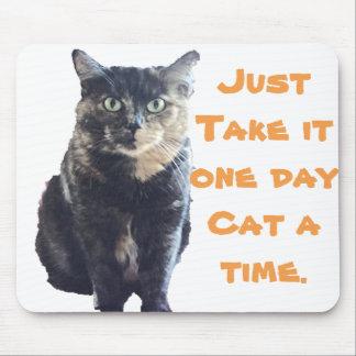 1匹の日猫時間 マウスパッド
