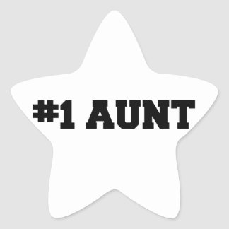 #1叔母さんは、#1伯母さん、1人の伯母さんの最も最高のな叔母さんに番号を付けます 星シール