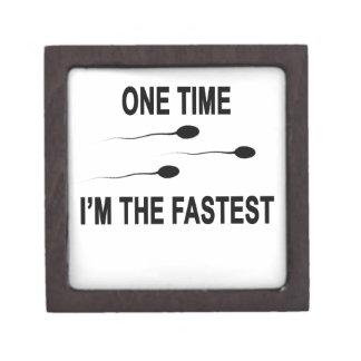 1回私は最も速いT-Shirt.pngです ギフトボックス