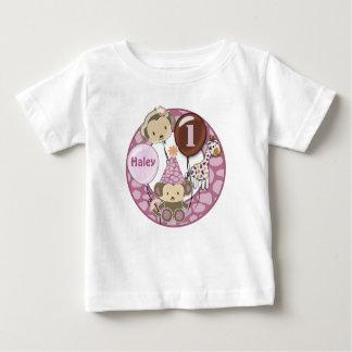 1年の古い誕生日のTシャツのCJ蘭 ベビーTシャツ