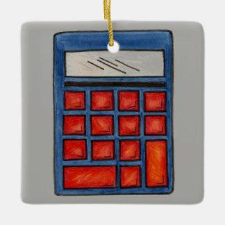 #1数学の教師の学校の計算機の教育のギフト セラミックオーナメント
