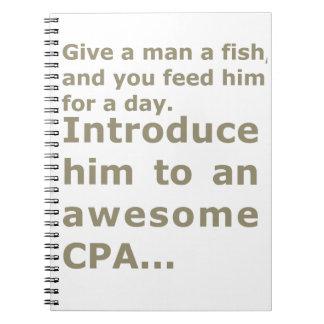 1日または素晴らしいCPAのための魚 ノートブック