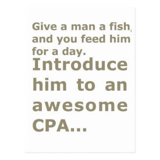 1日または素晴らしいCPAのための魚 ポストカード