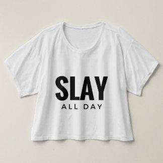 1日中殺害して下さい Tシャツ