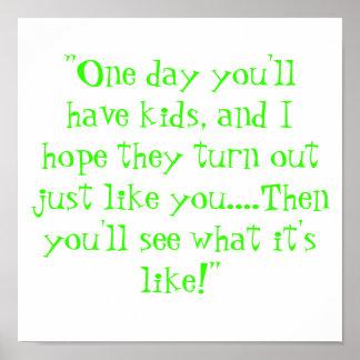 1日子供があります ポスター