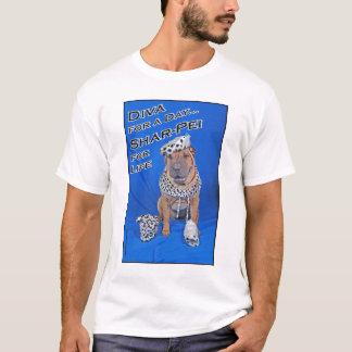 1日犬の花型女性歌手 Tシャツ