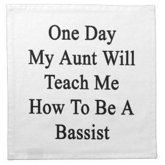 1日Teach Me Howコントラバス奏者がある私の叔母さん ナプキンクロス