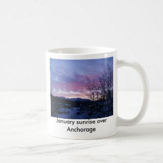 1月の日の出のマグ コーヒーマグカップ