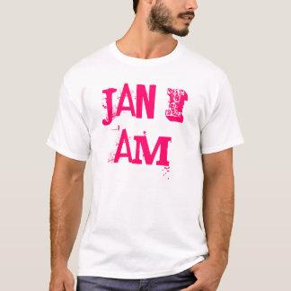 1月私は私が白く、ピンクのジャネットです Tシャツ
