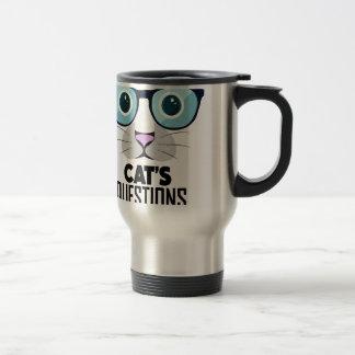 1月22日-あなたの猫の質問日に答えて下さい トラベルマグ
