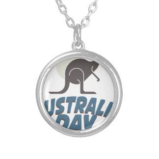 1月26日-オーストラリア日 シルバープレートネックレス