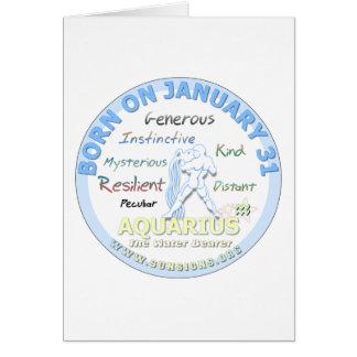 1月31日の誕生日-アクエリアス カード