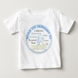 1月31日の誕生日-アクエリアス ベビーTシャツ