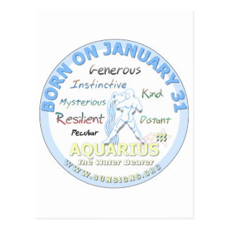 1月31日の誕生日-アクエリアス ポストカード