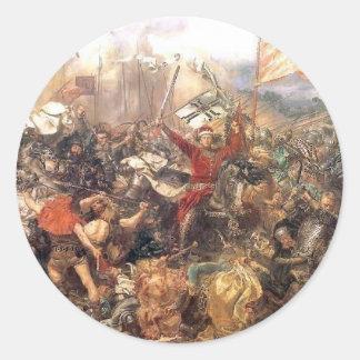 1月Matejko著Grunwaldの戦い ラウンドシール
