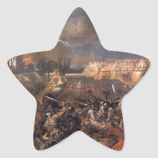 1月Matejko著Grunwald (詳細)の戦い 星シール