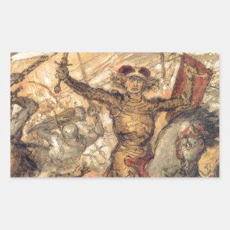 1月Matejko著Grunwald (詳細)の戦い 長方形シール