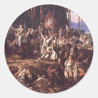 1月Matejko著Raclawiceの戦い ラウンドシール