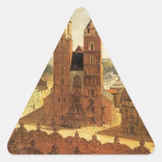 1月Matejko著St Maryの教会 三角形シール