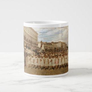 1月Verhas著学校のパレード ジャンボコーヒーマグカップ