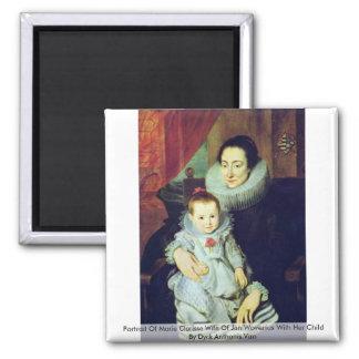 1月WoveriusのMarie Clarisseの妻のポートレート マグネット