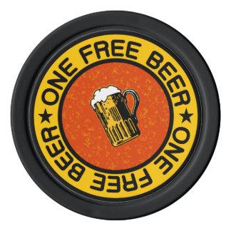 1杯の自由なビールカスタムなバー/パブの飲み物は欠けます ポーカーチップ