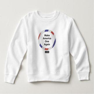 1枚のアメリカの幼児のフリースのスエットシャツ スウェットシャツ