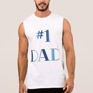 1枚のパパの袖なしのTシャツ 袖なしシャツ