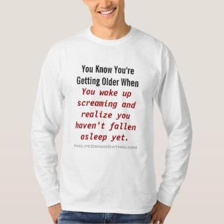 # 1枚の中年の危機の子守唄のワイシャツ Tシャツ