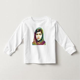 1枚の女の子の幼児の長袖のTシャツ トドラーTシャツ