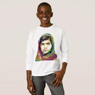1枚の女の子の男の子の長袖のTシャツ Tシャツ