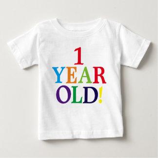 1枚の歳の誕生日の古くかわいいベビーのワイシャツ ベビーTシャツ