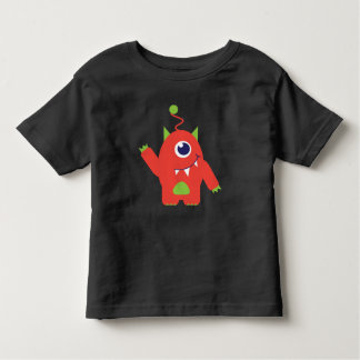 1枚の注目された外国のオレンジ及び緑の幼児のTシャツ トドラーTシャツ