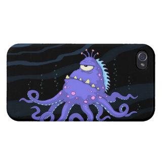 1注目されたタコの海の創造物のiphone 4ケース iPhone 4/4S カバー
