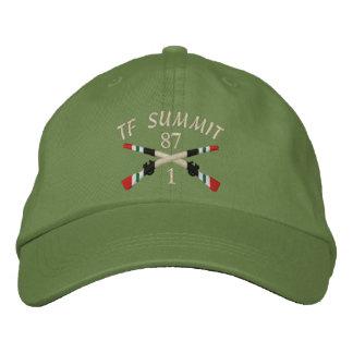1第87 Inf. TFの頂上のイラクによって交差させるライフルの帽子 刺繍入りキャップ