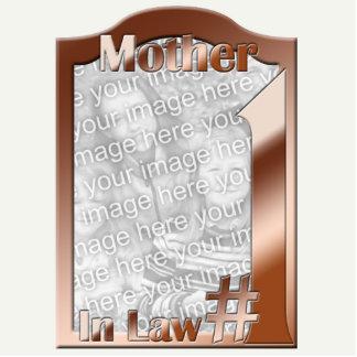 #1義母の銅の写真フレームの彫刻 写真彫刻(台付き)
