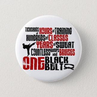 1黒帯2の空手のTシャツ及び服装 5.7CM 丸型バッジ