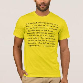 """""""10の命令""""のTシャツ Tシャツ"""