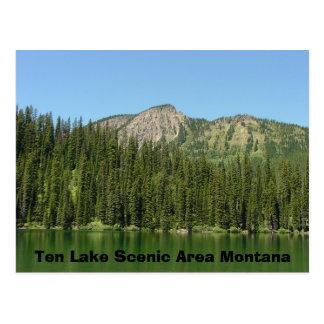 10の湖の景色を楽しめるエリア ポストカード