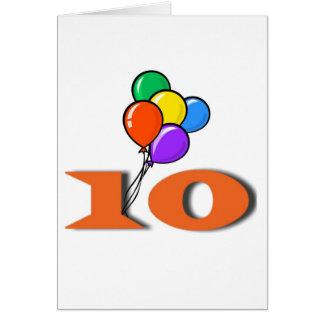 10の誕生日の招待状カード カード