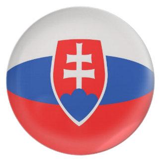10インチのプレートのスロバキアのSlovakian旗 プレート