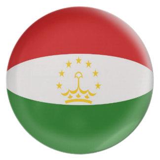 10インチのプレートのタジキスタンの旗 プレート