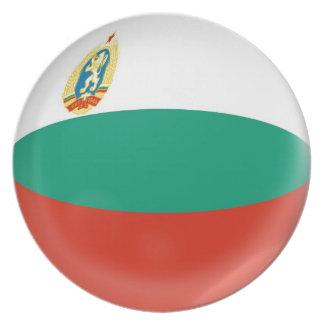 10インチのプレートのブルガリアの旗 プレート