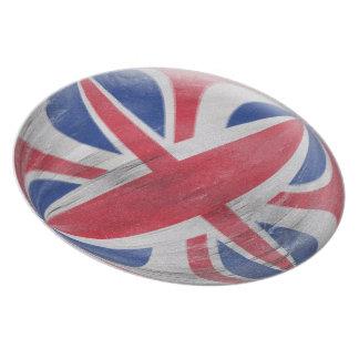 10インチのプレート-英国国旗の動揺してな旗 プレート