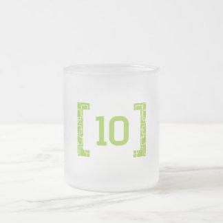 #10ライムグリーン フロストグラスマグカップ