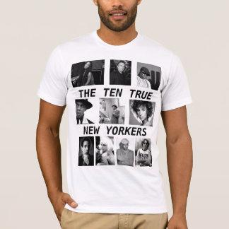 10人の本当のニューヨーカー Tシャツ
