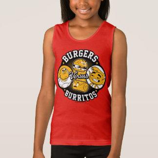10代のなタイタンは行きます! |のハンバーガー対ブリトー タンクトップ