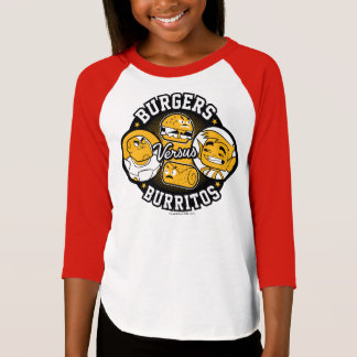 10代のなタイタンは行きます! |のハンバーガー対ブリトー Tシャツ